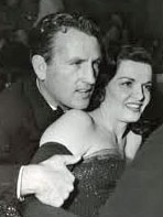 Rams QB Bob Waterfield and his wife, movie star Jane Russell