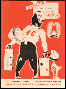 1946 NFL Championship Game Program
