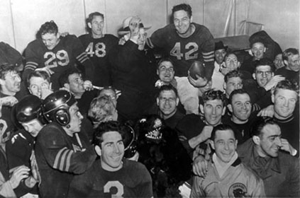 Bears exult after winning 1946 NFL Championship.