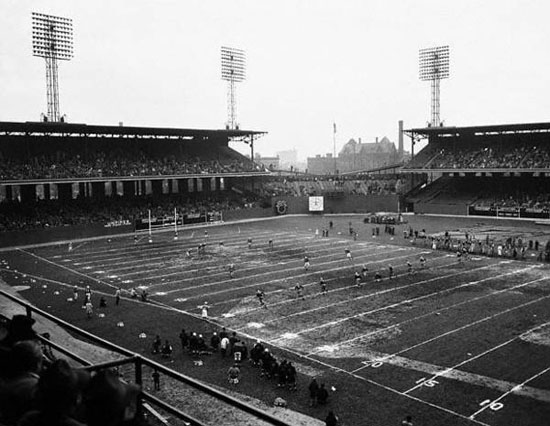 Comiskey Park set up for football