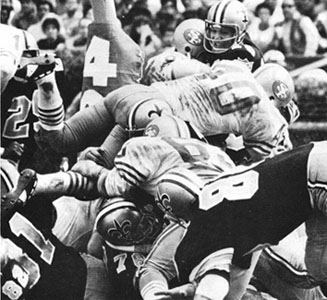 1969 Saints-49ers Action - 2