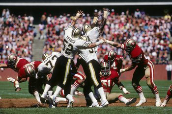 1980 Saints-49ers Action