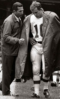 Giants Coach Allie Sherman and QB Fran Tarkenton