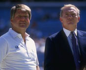 Dallas coach Jimmy Johnson and owner Jerry Jones