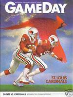 1983 Saints-Cards Program