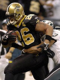 Deuce McAllister rips off another gain.