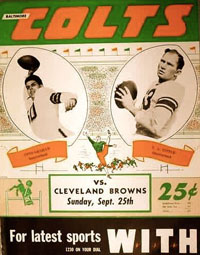 Browns-Colts Program 1949