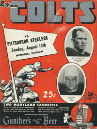 1950 Colts-Steelers Program