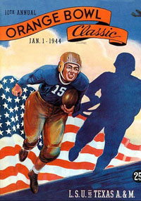 1944 Orange Bowl Program Cover
