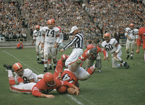 48ers-Browns Action 1956