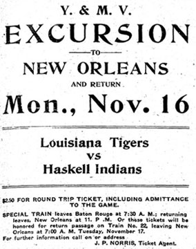 1908 Excursion to Haskell Indians Game
