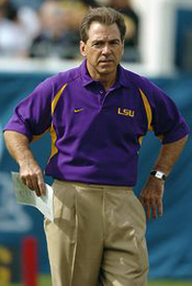 LSU Coach Nick Saban