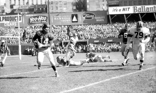 Y.A. Tittle: Giants vs. Browns