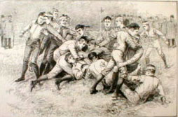 1885 College Football Scrimmage