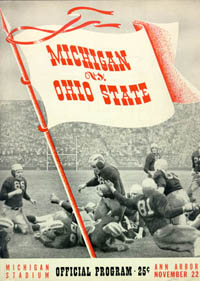 1941 Michigan-Ohio State Program