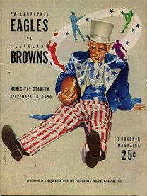 1950 Eagles-Browns Program