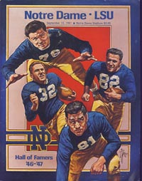 1981 Notre Dame-LSU Program Cover