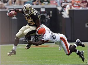 Reggie Bush in his first NFL game