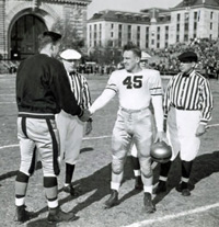 Captains Meet Before 1942 Army-Navy Game