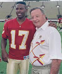 FSU Coach Bobby Bowden and QB Charlie Ward