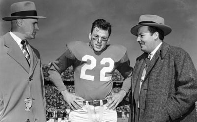 Coach Carl Snavely, Charlie Justice, Harry Wismer