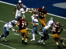 Longley in action against Redskins