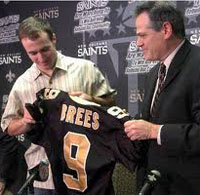Drew Brees Signs with Saints 2006