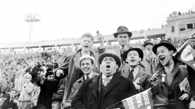 Duke Fans at 1939 Rose Bowl