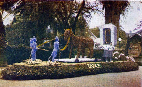 Duke Float in 1939 Tournament of Roses Parade
