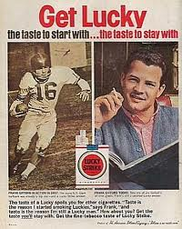 Giants HB Frank Gifford in Print Ad