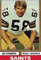 Saints LB Joe Federspiel