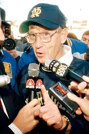 Lou Holtz Faces Reporters