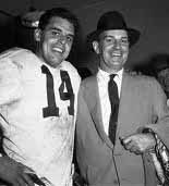 QB Otto Graham and Coach Paul Brown