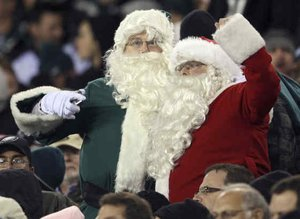 Santa at Eagles Game