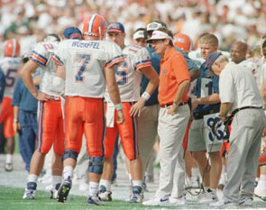 Spurrier and Wuerffel Confer