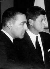 Stewart Udall and President Kennedy