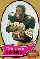 Saints RB Tony Baker