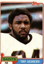 Saints RB Tony Galbreath