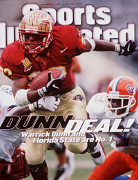 Warrick Dunn on cover of Sports Illustrated