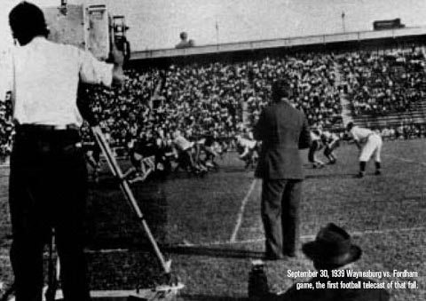 Filming First Televised Game