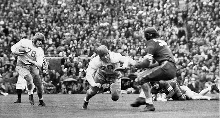 1939 Rose Bowl action