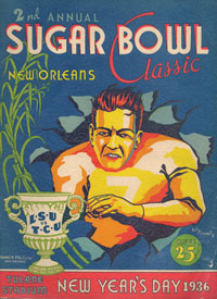 1936 Sugar Bowl Program