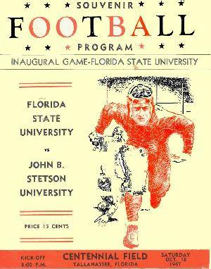1947 Florida State-Stetson Program