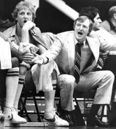 Larry Bird with Coach Bill Hodges