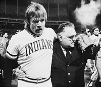 Len Barker Leaving Field after Perfect Game
