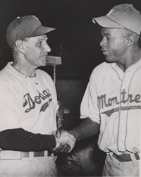 Leo Durocher and Jackie Robinson in Havana
