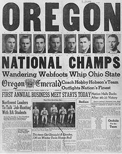Oregon 1939 NCAA Champs