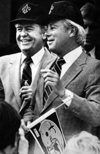 Tom Benson and Governor Edwin Edwards