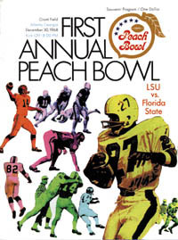 1968 Peach Bowl Program
