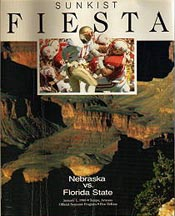 1988 Fiesta Bowl Program Cover